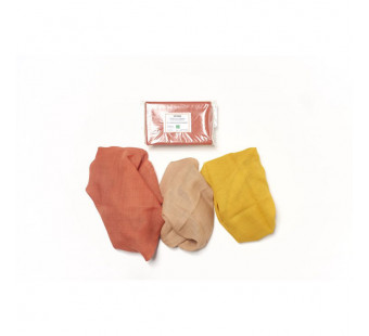 Filges set of 3 sasonal table plant dyes organic woolen clothes in autumn  colours