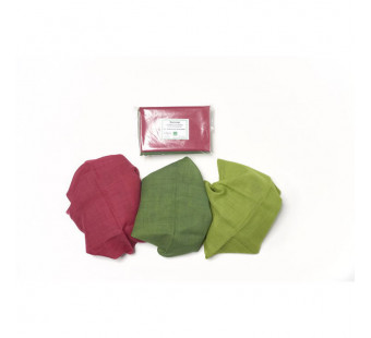 Filges set of 3 sasonal table plant dyes organic woolen clothes in summer colours
