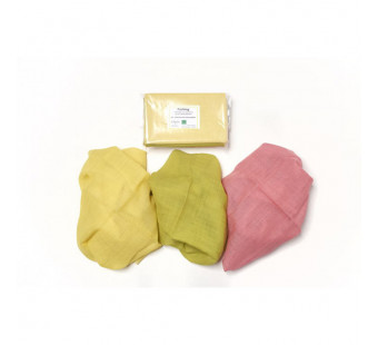 Filges set of 3 sasonal table plant dyes organic woolen clothes in spring colours