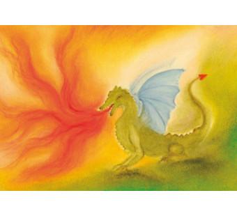 Postkaart De draak (Baukje Exler)