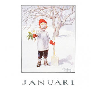 Postcard January (Elsa Beskow)