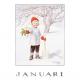 Postkaart Januari (Elsa Beskow)
