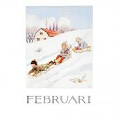 Postkaart Februari (Elsa Beskow)