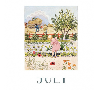 Postcard July (Elsa Beskow)