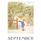 Postkaart September (Elsa Beskow)