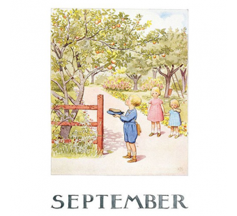 Postcard September (Elsa Beskow)