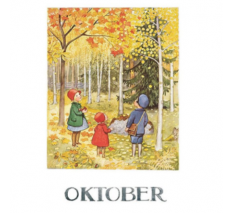 Postcard October (Elsa Beskow)