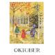 Postkaart oktober (Elsa Beskow)