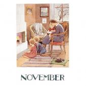 Postkaart November (Elsa Beskow)