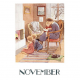 Postcard November (Elsa Beskow)
