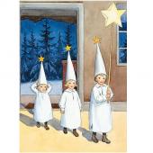 Postkaart Sterrenkindjes (Elsa Beskow)