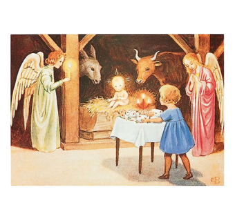 Postcard christmas scenery (Elsa Beskow)