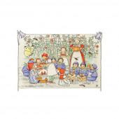 Postkaart de kabouterkinderen met kar (Elsa Beskow)