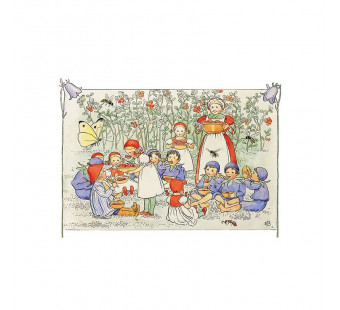 Postcard forest berry lunch (Elsa Beskow)