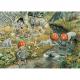 Postkaart de kabouterkinderen bij het water (Elsa Beskow)