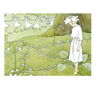 Postcard Flower girl (Elsa Beskow)