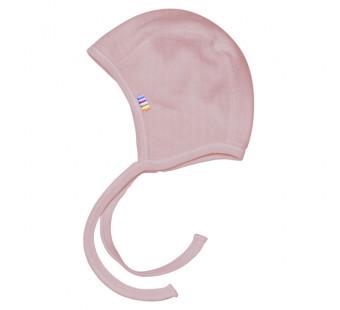 Joha merino woolen bonnet old pink (96140)