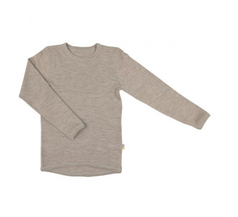 Joha merinowollen shirt bruingrijs (16341)