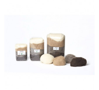 Filges organic wool for wet or dry felting in natural colours
