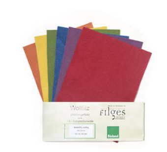 Filges set of 6 colours organic woolfelt in bright colours