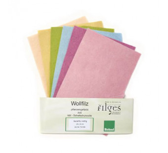 Filges set of 6 colours organic woolfelt in pale colours
