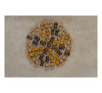 Grapat  mandala brown mushrooms (18-202)