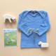 Cosilana longsleeve blue cotton/wool/silk soft blue  (91032)