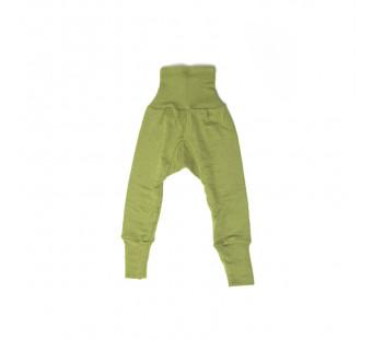 Cosilana babybroekje met boord groen 70% wol 30% zijde (71016)