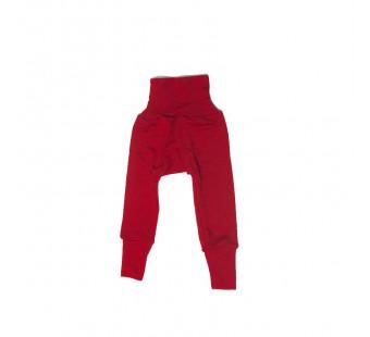 Cosilana babybroekje met boord rood 70% wol 30% zijde (71016)