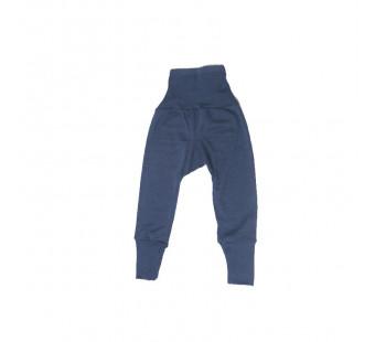 Cosilana babybroekje met boord navy 70% wol 30% zijde (71016)