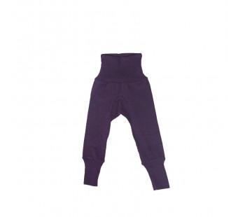 Cosilana babybroekje met boord donkerpaars 70% wol 30% zijde (71016)