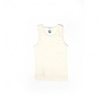 Cosilana mouwloos hemd 70% wol 30% zijde naturel (71230)