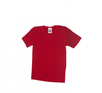 Cosilana tshirt wool/silk red (71232)