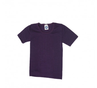 Cosilana short sleeve wool/silk purple (71232)
