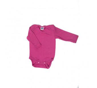 Cosilana 70% wol/30% zijde romper lange mouw roze (71053)