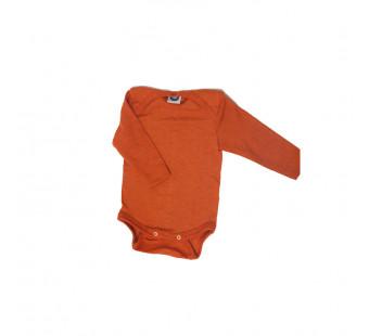 Cosilana 70% wol/30% zijde romper lange mouw oranje (71053)
