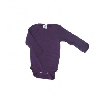 Cosilana long sleeved body 70% wool/30% silk, dark purple (71053)