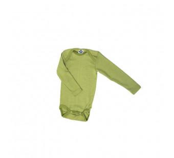 Cosilana 70% wol/30% zijde romper lange mouw groen  (71053)