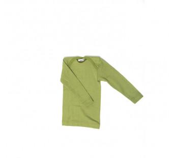 Cosilana lange mouw t-shirt met envelophals 70% wol 30% zijde  groen (71033)
