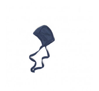 Cosilana baby bonnet 70% wool 30% silk navy blue (71090)