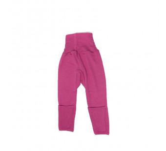 Cosilana broekje 70% wol 30% zijde met omslag om te vouwen tot maillot, roze (71018)