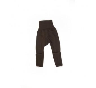 Cosilana broekje 70% wol 30% zijde met omslag om te vouwen tot maillot, bruin (71018)