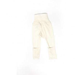 Cosilana broekje 70% wol 30% zijde met omslag om te vouwen tot maillot, naturel (71018)