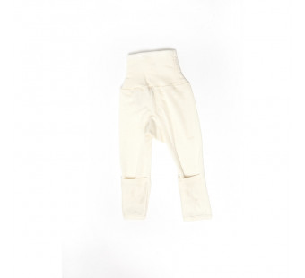 Cosilana pants with socks (foldable) 70% wool 30% silk natural (71018)