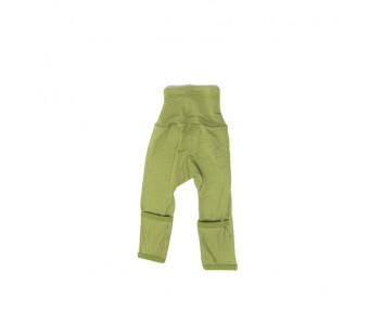 Cosilana broekje 70% wol 30% zijde met omslag om te vouwen tot maillot, groen (71018)