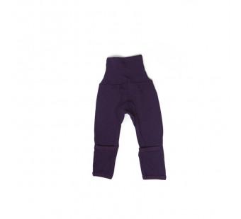 Cosilana broekje 70% wol 30% zijde met omslag om te vouwen tot maillot, donkerpaars  (71018)