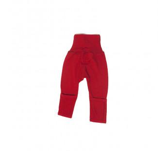 Cosilana broekje 70% wol 30% zijde met omslag om te vouwen tot maillot, rood (71018)