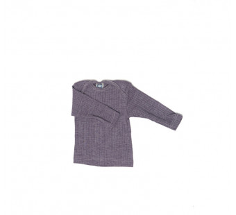 Cosilana tshirt lange mouw  wol/zijde/katoen paars (91033)