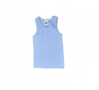 Cosilana hemd katoen/wol/zijde lichtblauw (91230)