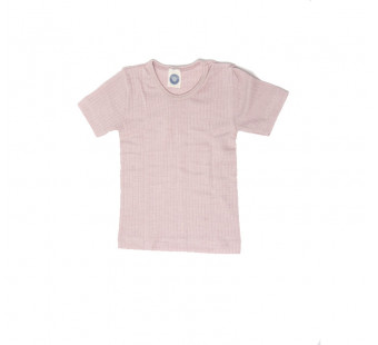 Cosilana shortsleeve cotton/wool/silk soft pink (91232)